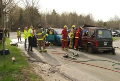 EMT's Learn From Real Life Emergency Training Exercise
