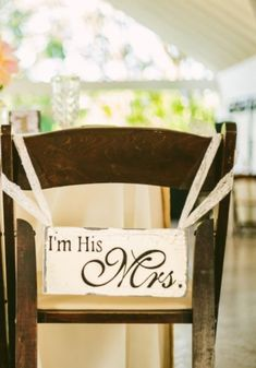 56 Creative Signage Chair Decor Ideas | HappyWedd.com