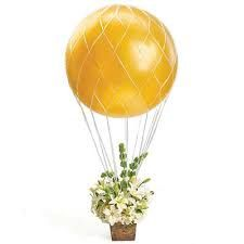 Hot Air Balloon Theme Decoration Net on Etsy, $4.45. Cute idea for a Centerpiece!