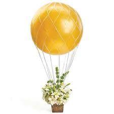 Hot Air Balloon Theme Decoration Net on Etsy, $4.45. Cute idea for a Centerpiece!