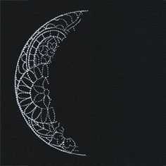 Luna - Waning Crescent Moon design (UT9689) from UrbanThreads.com