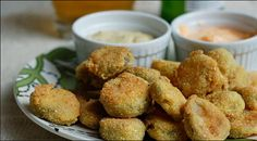 Delicious Pickles In Bread Crumbs