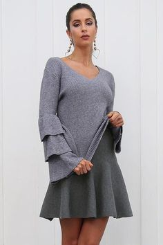 03ad88fece6 Glamaker Draped knitted short skirts women Autumn pleated mini skirt  Elegant high waist female a-line streetwear winter skirt