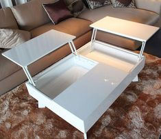 Coffee Table Ideas In The Living Room That Enhance Beauty - Home of Pondo - Home Design DIY and Craf Coffee Table Design, Diy Coffee Table, Modern Coffee Tables, White Coffee Tables, Coffee Table Furniture, Coffee Cups, Home Design Diy, House Design, Interior Design