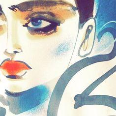Peek A Boo #visagie #fashionlover #fashionbloggers #fashionista #fashionart #fashionillustration #artwork #artist #artoftheday #paint #painting #face #model #fashionart #fashionaddict #fashionillustrator #illustrator #draw #drawing #model #beauty #makeup #fashiondrawing #illustrator #giambattistavalli @patmcgrathreal