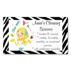 Cleaning Service Business Cards | Zazzle |Commercial Cleaning Cards
