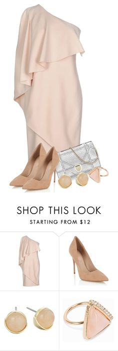 """Beige Dress"" by covrigel ❤ liked on Polyvore featuring Givenchy, Lipsy, Cole Haan and NLY Accessories"