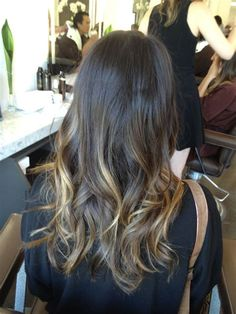 Let's stop calling ombre a trend, because trends come and go. This before and after by colorist Erick Orellana is a reminder why ombre is here to stay. How can you not love this gorgeous brunette color? Brunette Ombre, Brunette Color, Ombre Hair Color, Brunette Hair, Blonde Hair, Brown Blonde, Hair Colour, Brown Hair, Messy Hairstyles