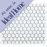 Mosaic tiles for in the kitchen.  Hexagon Tiles by Envy.