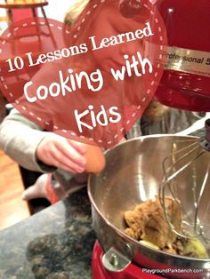 I love bringing the girls into the kitchen!  Cooking with kids naturally brings with it a host of learning opportunities - see our 10 biggest lessons learned by simply cooking with kids! | Cooking with Kids | Kids Kitchen | Learning through Play | Hands on Learning | STEM | Toddler | Preschool | Parenting |