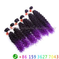 Find More Hair Weaves Information about 14'' 18'' 6pcs Synthetic curly hair extension ombre purple Jerry curly water wave hair wefts gogo curly crochet hair extension,High Quality hair bed,China hair disk Suppliers, Cheap hair extensions fine hair from Eunice synthetic braiding hair on Aliexpress.com
