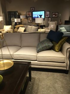 Shop For Bernhardt Brae Sofa, B6717, And Other Living Room Sofas At Tin  Roof In Spokane, WA. Fabric Shown: 1058 200. Pillow Fabric: 1495 2u2026