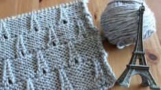How to Knit the EIFFEL TOWER Eyelet Stitch by Studio Knit