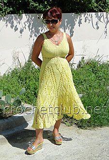 old yellow sundress