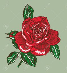 Dessin à La Main Avec L'image Bourgeon De Rose Clip Art Libres De ...