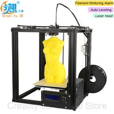 Auto Leveling CREALITY 3D Ender-4 Laser Cheap 3D Printer Metal frame 3D Printer Kit Filament Filament Mnitoring ALarm Potection  #Affiliate