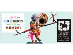 Art Beat, Logo Design, Graphic Design, Times Of India, Advertising Campaign, Art Festival, Mumbai, Logos, Bombay Cat