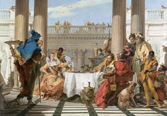 Giovanni Battista TIEPOLO The Banquet of Cleopatra Oil on canvas, 249 x 346 cm National Gallery of Victoria, Melbourne Artist Canvas, Oil Painting On Canvas, Canvas Art, Caravaggio, Google Art Project, National Gallery, Famous Art, Ancient Rome, Ancient History