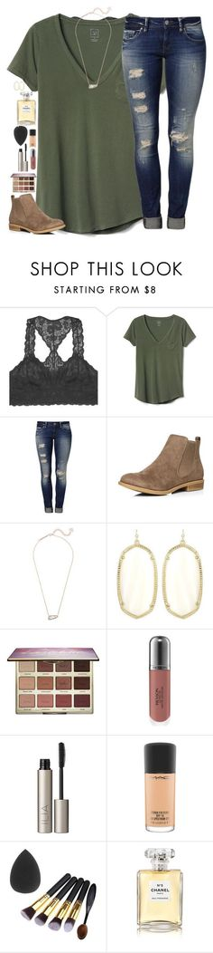 Minimal distress jeans are cleaner but still trendy....featuring Youmita, Gap, Mavi, Dorothy Perkins, Kendra Scott, tarte, Revlon, Ilia, MAC Cosmetics and Chanel