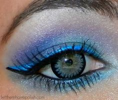 Blue and silver. Cool contacts