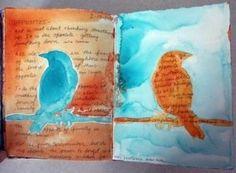 blue bird, orange bird
