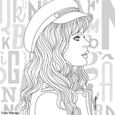 People Coloring Pages, Coloring Pages To Print, Coloring Book Pages, Coloring Sheets, Adult Coloring, Mini Tattoos, Digital Stamps, Happy Planner, Art Drawings