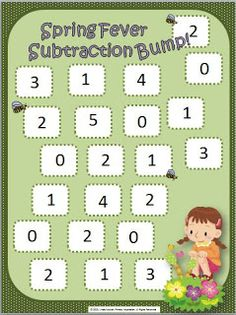 FREE subtraction BUMP! game for spring