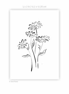 Black and white flowers art print. Oxeye daisy drawing. Wild flowers sketch. Ink painting wall art. Simple daisies Art print. My Flower, Flower Art, Daisy Drawing, Sketch Ink, Black And White Flowers, Flower Sketches, Ink Painting, Daisies, Wild Flowers