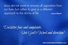 Declutter fear & complaints!
