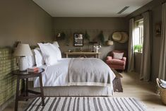 Heckfield Place is our hotel opening of the month. Here's a first look inside the new English country house hotel designed by Ben Thompson that everyone's talking about Tranquil Bedroom, Master Bedroom, Country Hotel, Farmhouse Side Table, White Sheets, Flat Bed, Buy Bed, Tuscan Decorating, Back To Nature