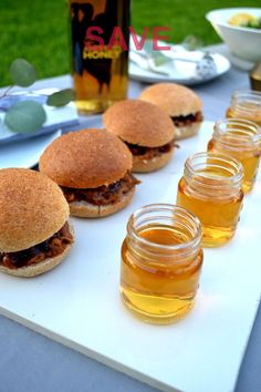 Serve up some bourbon glazed pulled pork sliders with a shot…  Fabilous food and drinks