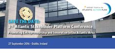 The run-up has begun for the 3rd Atlantic Stakeholder Platform Conference, to be held in Croke Park centre, Dublin, on 27 September 2016. Launched by the European Commission in 2011, the Atlantic strategy identifies challenges and opportunities in the region and takes stock of existing initiatives that can support growth and job creation. It also calls [ ]