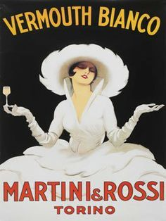 "Trademark Art ""Vermouth Bianco Martini Rossi"" by Marcello Dudovich Framed Vintage Advertisement on Wrapped Canvas Size: Posters Vintage, Art Deco Posters, Poster Prints, French Posters, Food Posters, Retro Posters, Retro Ads, Vintage Prints, Framed Art Prints"
