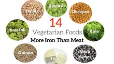 14 Vegetarian Foods That Have More Iron Than Meat