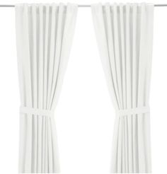 IKEA The website picture really doesn't do them justice, but they come in 98″ and 118″ long and range from $25-$35. They hang so nicely and you really cannot beat the price for that length. I really prefer to hang my curtains as long as possible- from ceiling to floor.