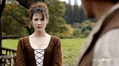 Screen cap of Jamie & Claire - new video
