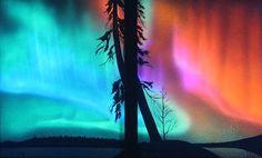 Aurora Borealis - Original Black Light Painting by Vince Wishart, via Flickr