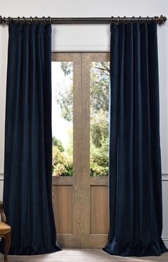 Half Price Drapes Mikayla Velvet Pole Pocket Curtain Panel