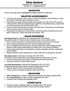 Sales Resume Samples  HttpExampleresumecvOrgSalesResume