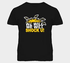 Wichita State Basketball  We Will Shock You T Shirt. Available in all sizes in men's and ladies shirts. Visit www.fanTstore.com