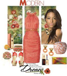 """Orange Blossom"" by mzdiamondgirl on Polyvore"