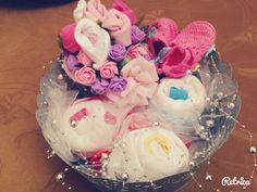 Baby gift  Bodysuit cake Flower scoks