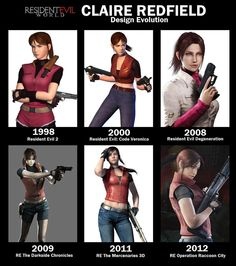 Claire Redfield Dark Side Chronicles is for sure my favorite look of hers. She came out again in resident evil revelation 2 check it out it's very interesting Resident Evil Girl, Constantin Film, Evil Games, Revelation 2, Jill Valentine, Games For Girls, Game Character, Female Characters, Videogames