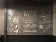 coffee mural painted at Starbucks in Fayetteville, Arkansas by ArtFX Design Studios.
