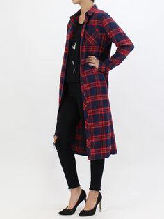 チェックパターン起毛ロングシャツ/ワンピース|NIZIIRO(ニジイロ) / NIZIIRO ONLINE STORE #ファッション #レディース #fashion #チェック