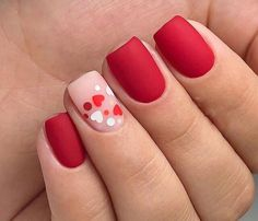 Installation of acrylic or gel nails - My Nails Cute Acrylic Nails, Cute Nails, Pretty Nails, Diy Valentine's Nails, Pretty Makeup, Acrylic Art, Valentine's Day Nail Designs, Nails Design, Heart Nail Designs