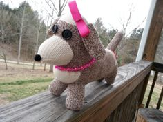 Hey, I found this really awesome Etsy listing at http://www.etsy.com/listing/123030230/handmade-girl-sock-weiner-dog-made-from