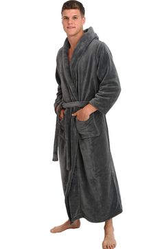 mens monk style luxury turkish cotton bathrobe. made with fine