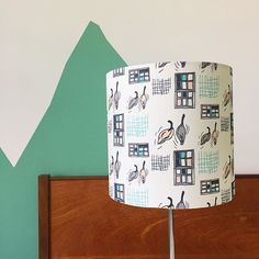Lampshade made by Made by Mrs M in fabric she designed Custom Printed Fabric, Printing On Fabric, Design Your Own, Photo And Video, Pretty, Instagram, Sew, Home Decor, Ideas