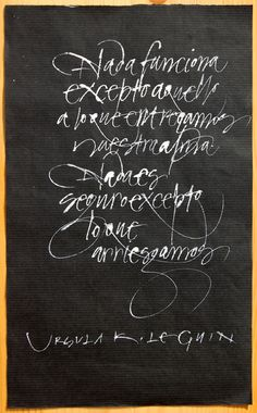 Calligraphy by Oriol Miró